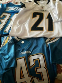 Closeout! Chargers Reebok  Jerseys-New with tags!! El Paso