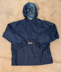 Vintage Retro 90's Nike Air Classic Navy Blue and Orange Nylon Windbreaker Jacket Size Medium Laurel, 20708