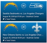 Chargers tickets Lynwood, 90262