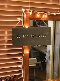 """Hand painted """"do the laundry"""" wall decor/sign."""
