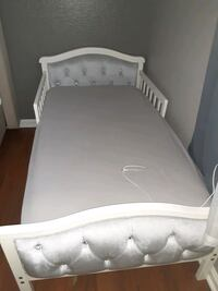 Bed frame only. Mattress not included