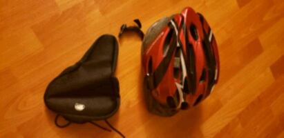 Schwinn bike helmet and bike seat new