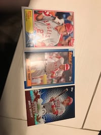 three assorted baseball trading cards Crown Point, 46307