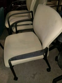 white and black padded armchair Baltimore, 21217