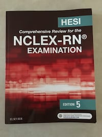 Hesi NCLEX-RN Review Book Edition 5 Like new condition. Saint Augustine, 32084
