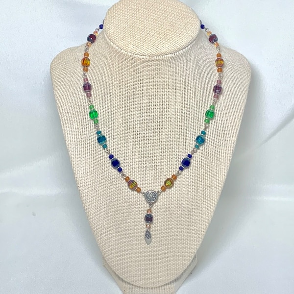 Vintage Sterling Silver Beaded Chakra Necklace 62b01951-2fd1-44ae-8529-c107a4710338