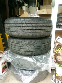 four black rubber car tires Westminster, 80030