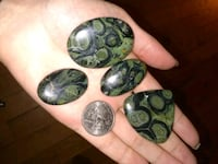 Kambaba Jasper stones.  $45 for all 4.