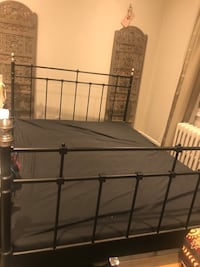 Queen size metal bed frame (ikea) Toronto, M4R 1G1