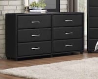 Black or Brown Faux Leather 6 Drawer Dresser (NEW SPECIAL PRICE!!) Upholstery Design Houston, 77040