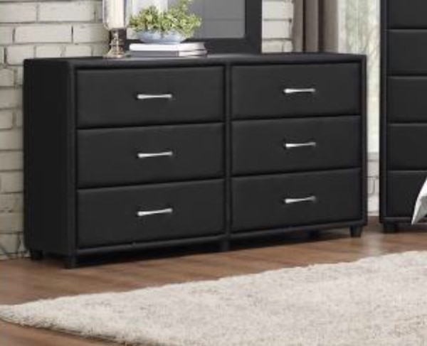 Black or Brown Faux Leather 6 Drawer Dresser (NEW SPECIAL PRICE!!) Upholstery Design