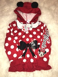 Minnie Mouse zip up hoodie size 6X Chico, 95973