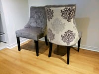 two gray-and-black floral padded chairs Ajax, L1Z 1J4