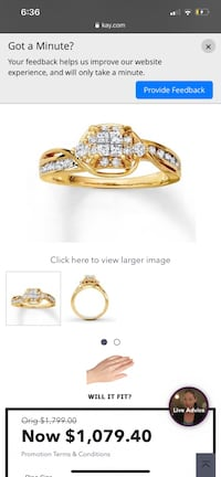 Yellow gold engament ring Chesapeake, 23320