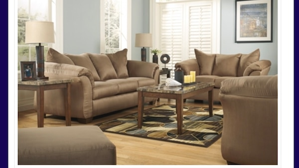 Pleasant Darcy Mocha Sofa And Love Home Remodeling Inspirations Basidirectenergyitoicom