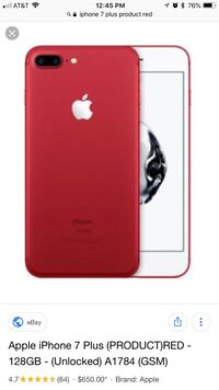 Product red iphone 7 plus Colorado Springs, 80909