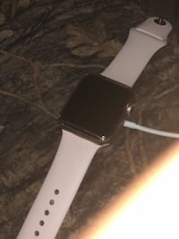 Series 3 New Apple Watch Space gray aluminum case apple watch with white sport band Washington, 20024