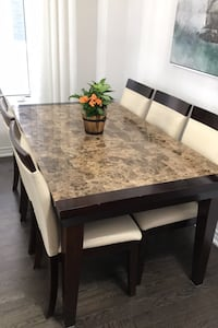 Dining Marble Table Set 6 Chairs