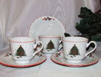Kopin Cups and Saucers Christmas Theme Mississauga, L4W 1R9