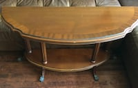 Solid Wood Console Table with bottom self Montréal