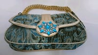 white, blue, and brown floral crossbody bag Sachse, 75048