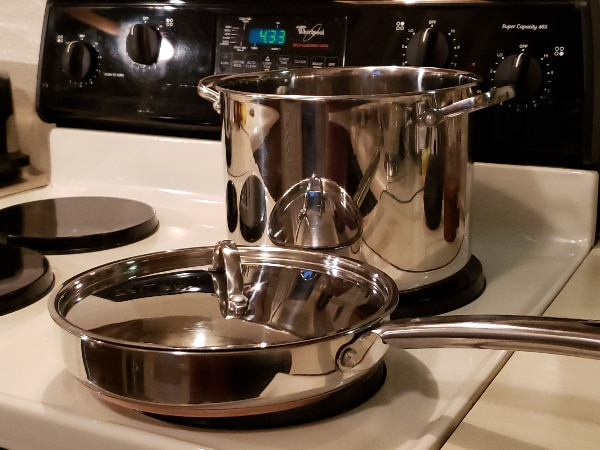 Used Martha Stewart Stainless Steel 3 Piece Cookware Set