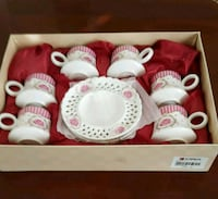 Six  cup Coffee  Set. Unused and in original box. Ashburn