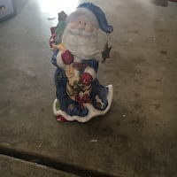 Ceramic Santa tea light figurine