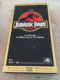 Jurassic park widescreen edition VHS