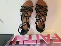 pair of brown leather gladiator sandals Griffin, 30223