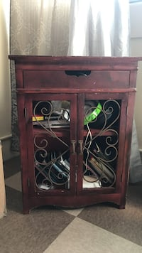 brown wooden display console cabinet Honolulu, 96819
