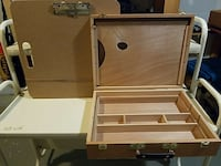 Wooden artists box & drawing board 31 km