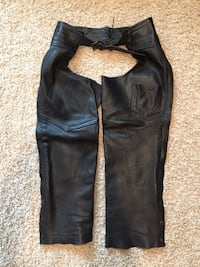 Leather motorcycle chaps women's size S