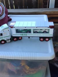 white and blue Hess truck toy Alexandria, 22303