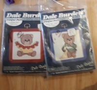 2 Vintage Small Cross Stitch Kits 1985 Bears