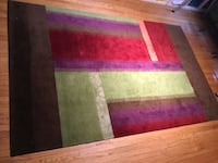 Color block area rug-$250-