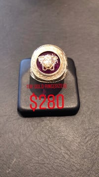 10k real gold ring Versace style ring size 9 Toronto, M6H 4B9