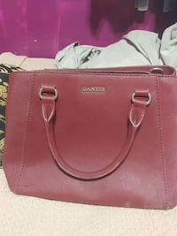 women's red Michael Kors leather tote bag 3749 km