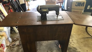 Antique Kenmore Sewing Machine with table