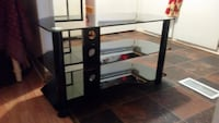 Black glass tv stand with mount Leesburg, 34748