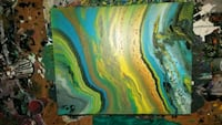 blue, green, and yellow abstract painting Granite City, 62040