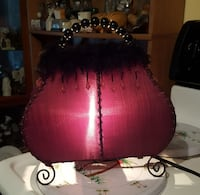red and black table lamp Ripley, 38063