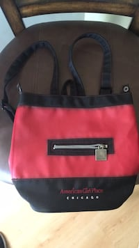 red and black leather handbag San Mateo, 94402