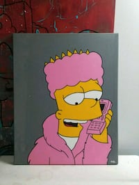 Bart Simpson/ camron  canvas painting Surrey, V3R 4A7