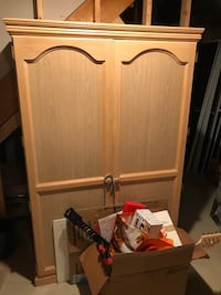 Armoire with drop down desk
