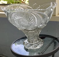 Antique Imperial pressed glass 15 inches punch bowl set Youngstown, 44515