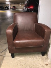 Faux brown leather chair Arlington, 22202