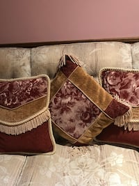 3 heavy duty, high  quality tapestry/velvety cushions.  Mississauga, L5L 3E4