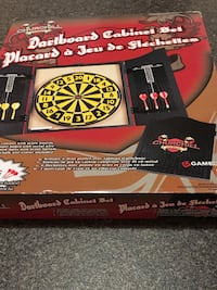 Dart board Cabinet Set Never Opened Bolton