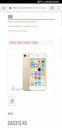 Ipod touch 6th gen 64gb